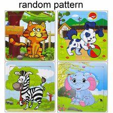 Wooden Cartoon Animals Puzzle Jigsaw Baby Kids Educational Development Toy Gift