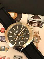 FOSSIL Men's Watch BQ1527 Multi-function Chronograph Black Silicon Rubber Strap