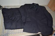 jos A bank coat 100% wool dress formal mens set pants jacket striped dark