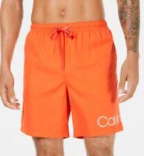 Men's Calvin Klein Mens Logo 7 Swim Trunks Atlantis Blue L USED