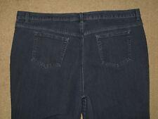 Gloria Vanderbilt Size 24W Short Amanda Tapered Leg Stretch Dark Blue Denim Jean