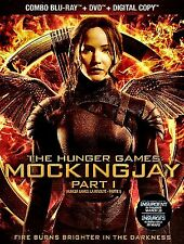 NEW BLU-RAY - DVD COMBO -  THE HUNGER GAMES - MOCKING JAY PT 1 - w/SLIP COVER