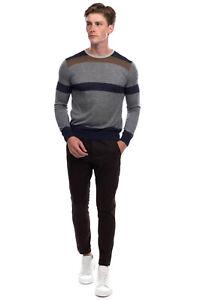 RRP€860 GIORGIO ARMANI Thin Cashmere Silk & Linen Jumper Size 50 L Made in Italy