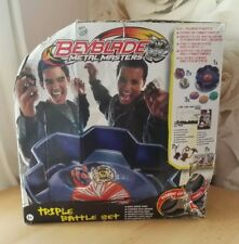 Beyblade Metal Masters Triple Set Arena Pegasus Drago Game Collectable