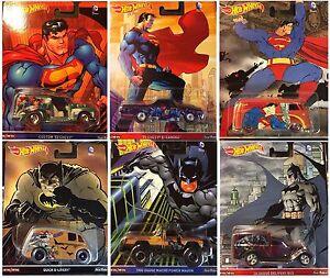 HOT WHEELS 1:64 POP CULTURE BATMAN & SUPERMAN CASE D ASSORTMENT DLB45-956D