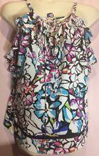 """Kate&Mallory XL 40""""-44""""Bust Floral Pink Blue Summer Women Blouse Top Shirt K12"""