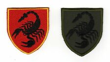 Tactical Military Army Badge Morale Patch Biker Motorcycle Scorpio Scorpion