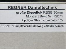 Große Regner Feldbahn Diesellok RSSB 30mm! Regner Fertigmodell! NEU/MINT! OK!