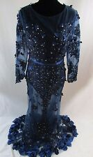 Women's Black Long Sleeve Lace Prom Bridal Evening Formal Gown   p2
