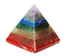 Energia reiki addebitate sette cristallo chakra incollato piramide naturale potente REGALO