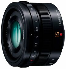 Panasonic LUMIX G LEICA DG SUMMILUX 15mm /F1.7 ASPH. H-X015-K Black EMS W/T