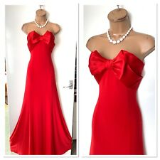 JOSEPH RIBKOFF Red Front Bow/ Bandeau Occasion Maxi Dress Uk Size 12-14