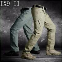 IX9 Men Military Tactical Cargo Pants Swat Army Training Hiking Overall Trousers