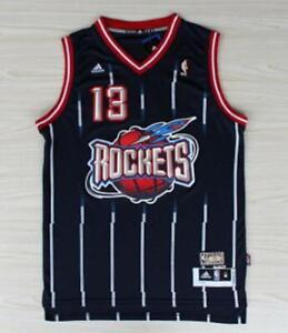 Men's Houston Rockets James Harden Navy Hardwood Classics jersey