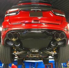 Diffuser for dual exhaust/quad tips for rear bumper of Jeep Grand Cherokee SRT8
