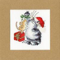 Under the Mistletoe-Bothy Threads-Margaret Sherry-Cross Stitch Greeting Card Kit