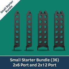 SergeantClip Cable Management Tool - Small Starter Bundle (2 x 6 & 2 x 12 port)