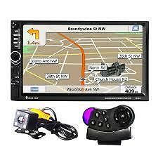 "7"" pulgadas doble 2 Din coche reproductor de audio Cámara GPS multimedia MP3 Mp5 Bluetooth"