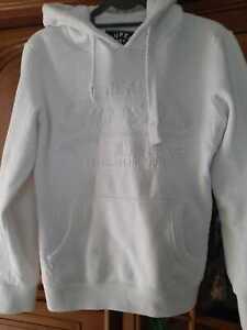 Superdry Damen Sweatshirt Kaputzenpullover Gr.M,weiß