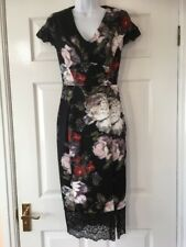 New Marks & Spencer Print  Lace Trim Dress Size 8   £49.50   Party / Occasion