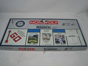 2001 MONOPOLY Seattle Mariners MLB Collector Edition Baseball Board Game