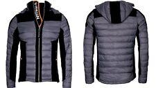 Geographical Norway abrigo suaves de hombre chaqueta Guateada Mix Parka gris oscuro L