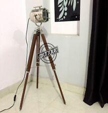 Brown Corner Night Lighting Wooden Stand LED Bulb Night Floor Lamp Tripod Decors