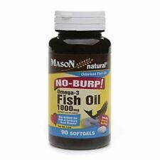 Mason Natural No Burp! Omega-3 Fish Oil, 1000mg, Small