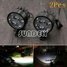 UK Black Motorcycle Motorbike 12V-85V 4LED Front Headlight Spot Light Head Lamp