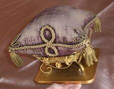 Coussin présentoir Napoléon III / fin XIXème métal doré - pour bijoux épingles .