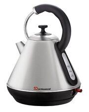 Cordless Electric Kettle 1.8L 2200W Rapid Boil Washable Filter SQPro  Silver