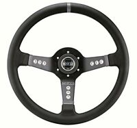 Sparco 015L800PL Piuma 777 Black Leather Steering Wheel 350mm