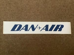 5 Rare authentic DAN AIR stickers from 1993 as used on Boeing 727 airstairs. New