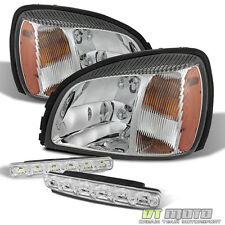 For 00-05 Cadillac Deville Amber Headlights Headlamps Aftermarket+Smd Bumper Fog