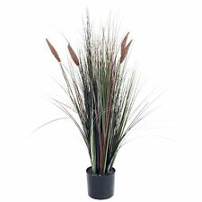 Pure Garden 4 Foot Tall Cattail Grass Artificial Indoor Outdoor Plant