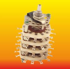 8 POLE 5 POSITIONS RUSSIAN UNSHORTING CERAMIC ROTARY SWITCH