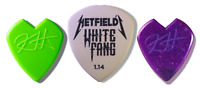 Metallica - James Hetfield White Fang - Kirk Hammett Jazz III -3 Pick Lot Dunlop