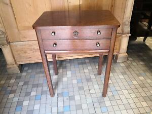 Art Deco Beistelltisch Nähtisch Tisch um 1930 Eiche