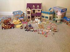 Sylvanian FAMILIES Bundle, CASE Figure Auto Bus Furniture alcuni in box
