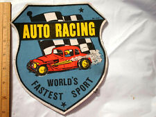 Auto Racing Patch World's Fastest Sport  Vintage  Patch   Ex Lg