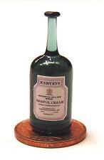 1:12 Real Glass Bottle Of Harveys Sherry Dolls House Miniature Bar Accessory