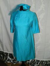 Ladies Size S Vintage Ceremony Classic Suit Dress W/ Bow & Vail Netting