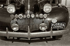 1939 Buick Loaded with Insignias on Front Grill Florida 8 x 10 photograph