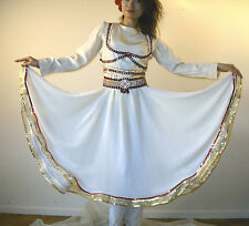 7 PIECE RED & IVORY MUJRA INDIAN, BELLYDANCE, BOLLYWOOD DANCE COSTUME, MIX MATCH