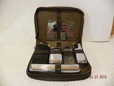 Vintage Leather Mens Travel Kit