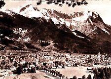 Garmisch-Partenkirchen against Zugspitze, Postcard, 1962 Run