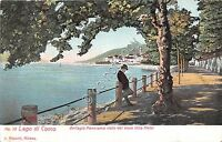 Cartolina - Postcard - Illustrata -  Como - Panorama da Villa Melzi - anni '20