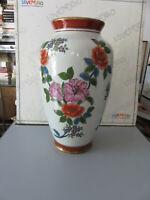 Nazaréen De Santis Bel Vase Floral en Porcelaine de Collection H 37 CM