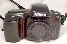 Nikon N50 Camera Body with Nikon strap - rubber grip sticky