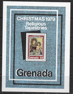 GRENADA , 1979 , CHRISTMAS , SOUVENIR SHEET PERF , MNH